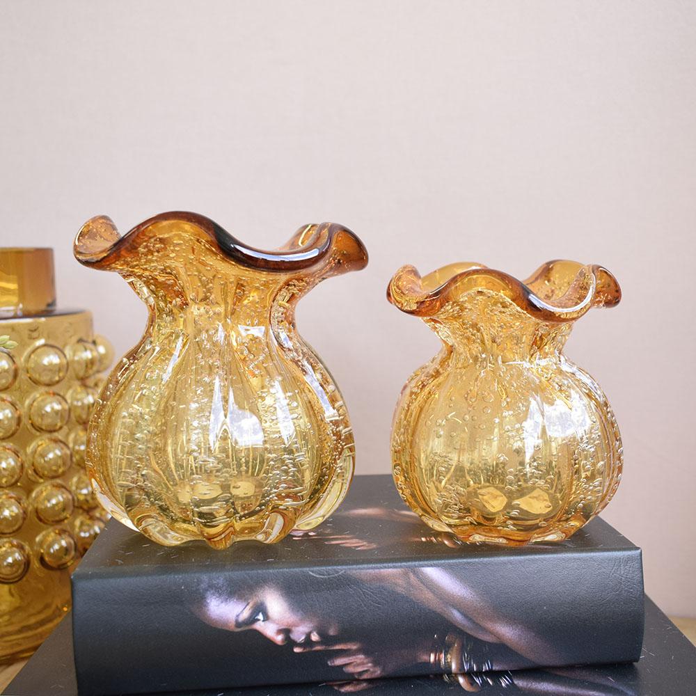 Vaso de Flores Trouxinha Âmbar 10 cm | Linha Vasos Decorativos Formosinha
