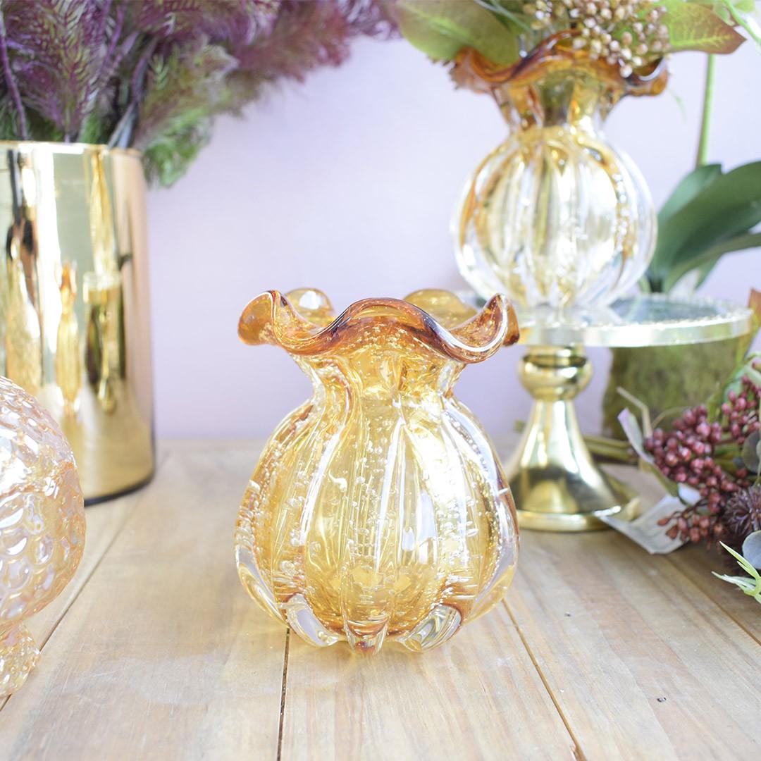 Vaso de Flores Italy Âmbar 11,5cm | Linha Vasos Decorativos Formosinha