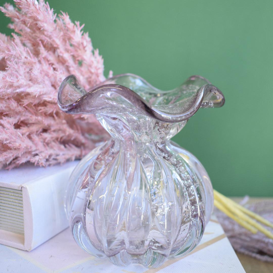Vaso de Flores Trouxinha Rosa Claro 10cm | Linha Vasos Decorativos Formosinha