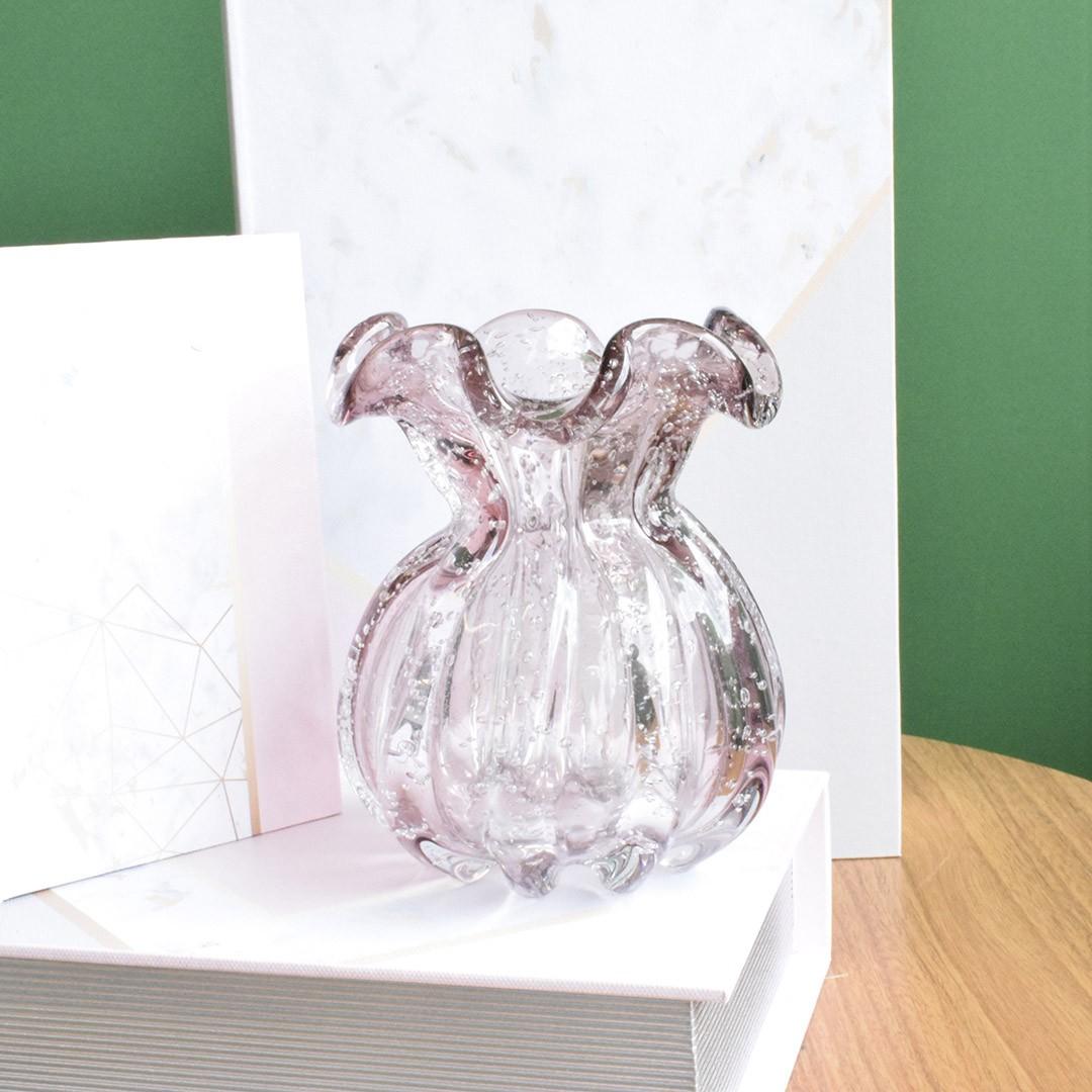 Vaso de Flores Italy Rosa Claro 11,5cm | Linha Vasos Decorativos Formosinha
