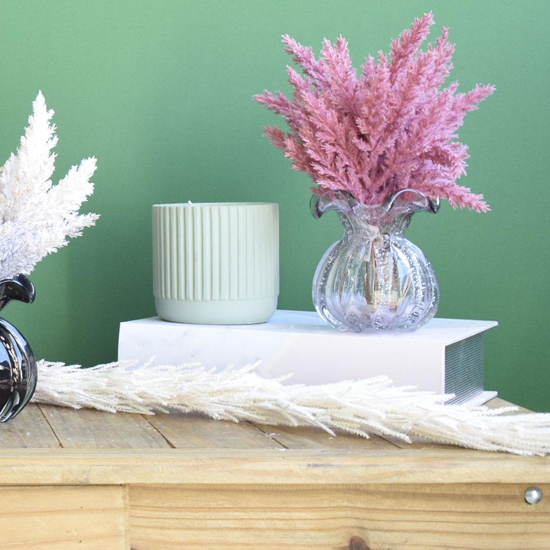 Vaso de Flores Trouxinha Rosa Claro 11,5 cm | Linha Vasos Decorativos Formosinha
