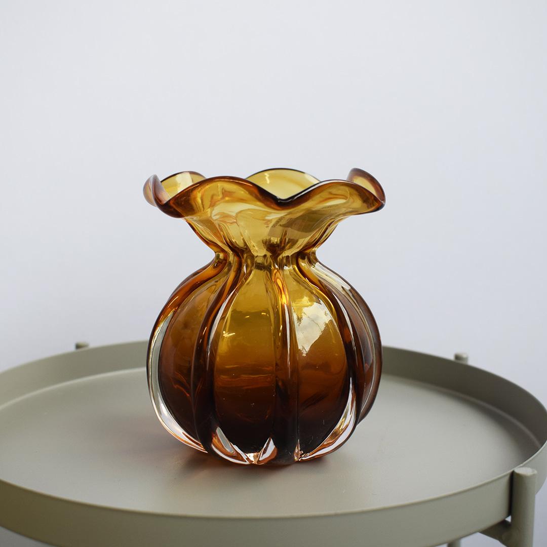 Vaso de Flores Trouxinha Âmbar 10cm | Formosinha