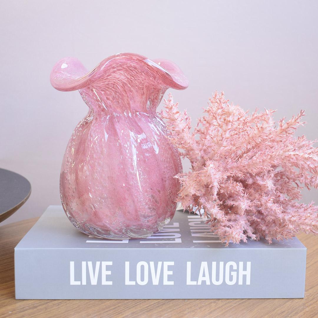 Vaso de Flores Trouxinha Rosa 18 cm | Linha Vasos Decorativos Formosinha