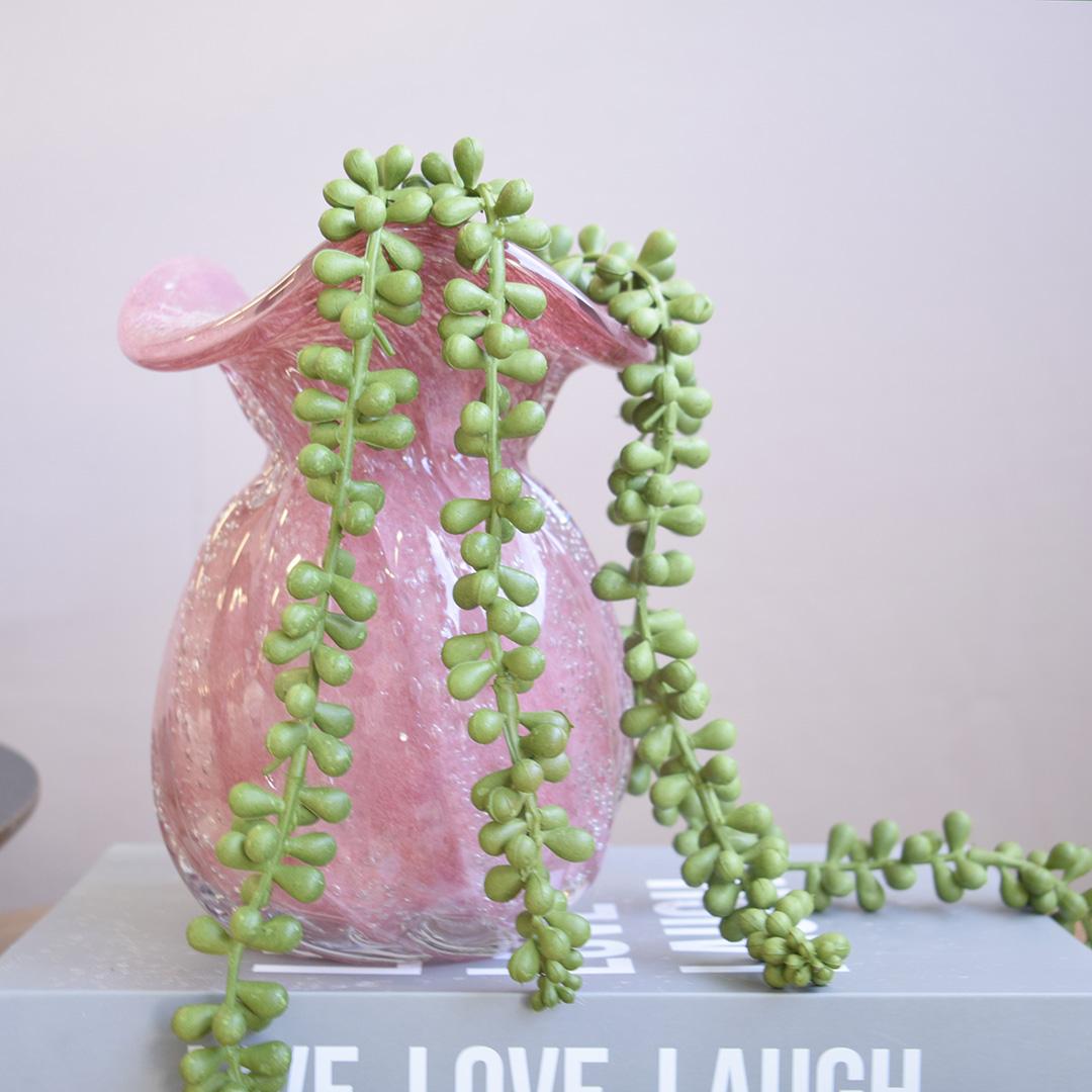 Vaso de Flores Trouxinha Rosa 18 cm   Linha Vasos Decorativos Formosinha
