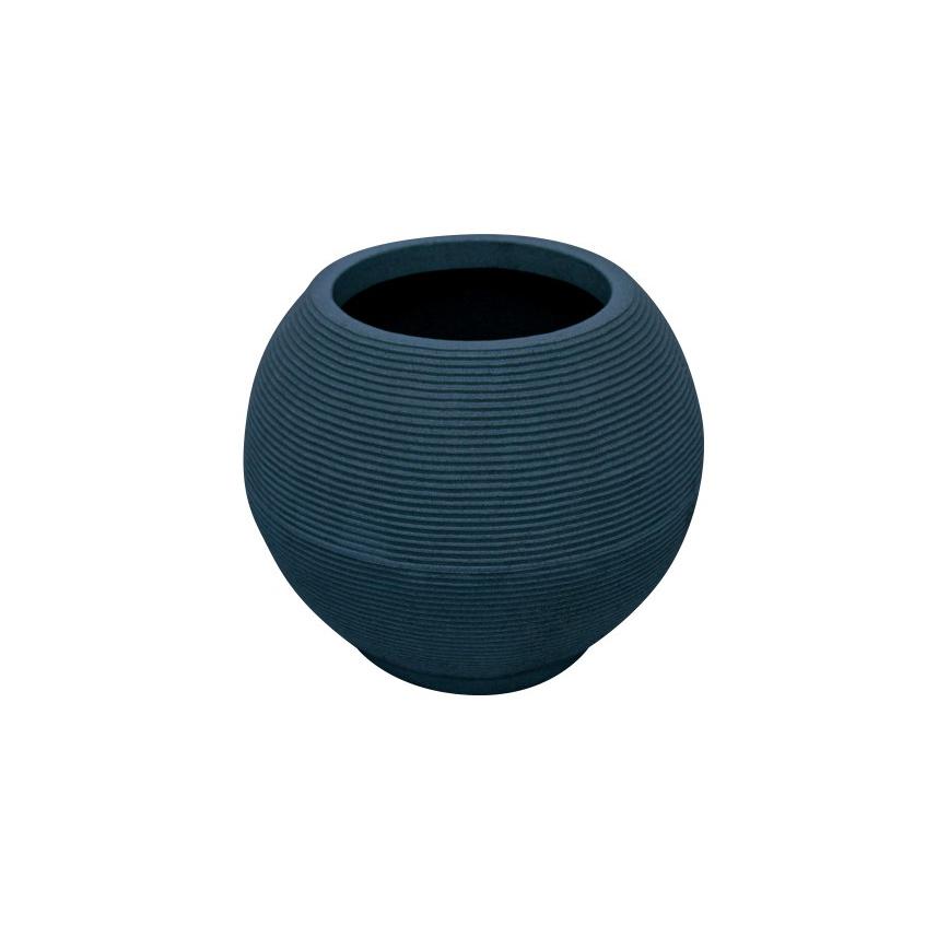 Vaso de Polietileno Bola Riscato Azul 40cm