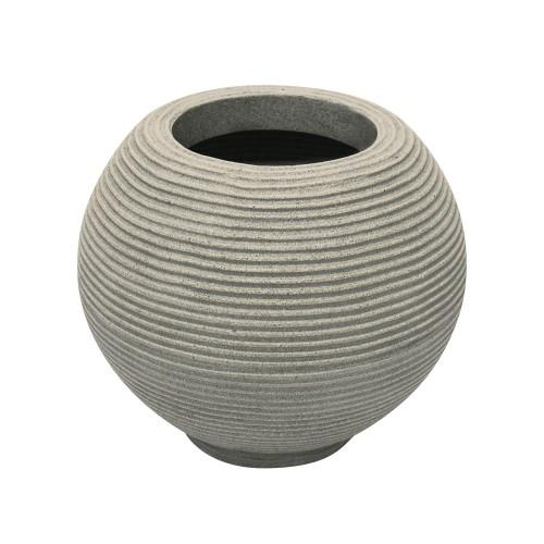 Vaso de Polietileno Bola Riscato Branco Mármore 36cm