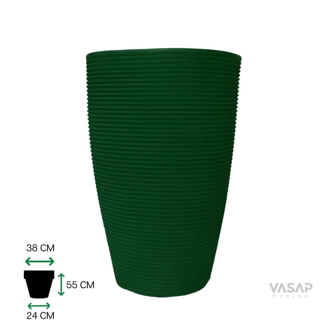 Vaso de Polietileno Cone 55 cm Verde | Formosinha