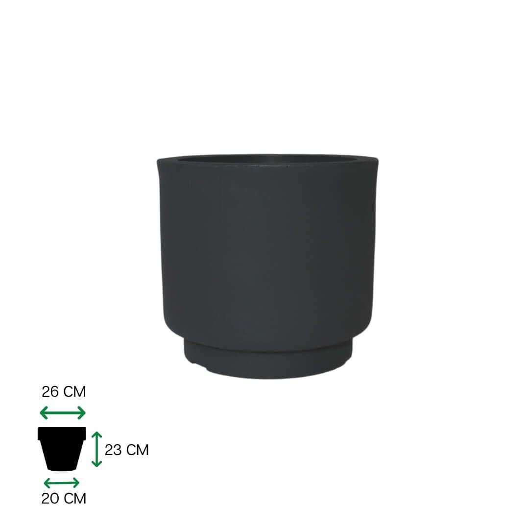 Vaso de Polietileno Cumbuca Alongado P Cinza Escuro - Coleção Rosenbaum & O Fetiche