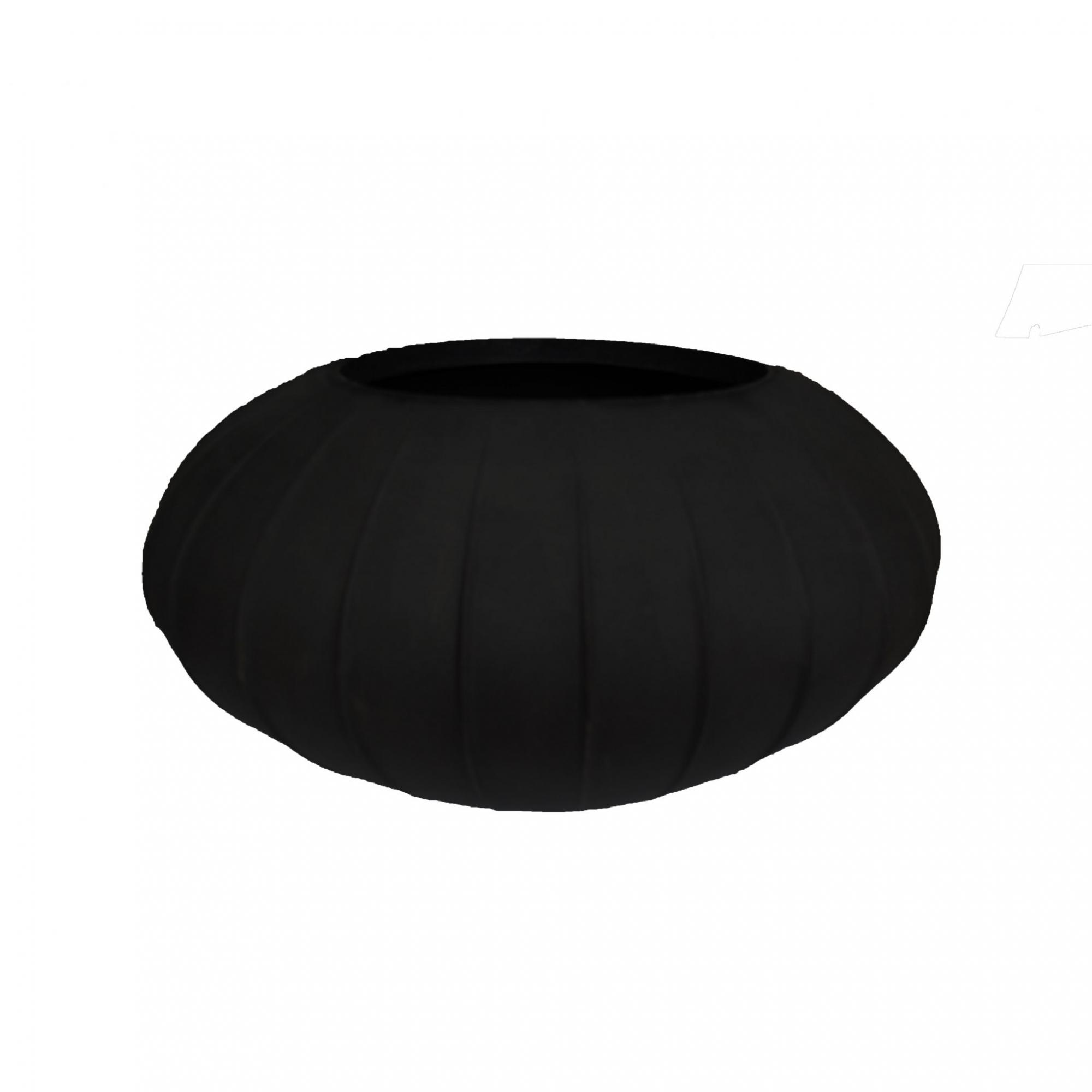 Vaso de Polietileno Oval 18cm Preto Fosco -  Coleção Hanazaki