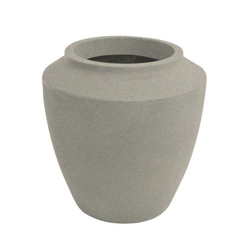 Vaso de Polietileno Thai 60cm Branco Mármore