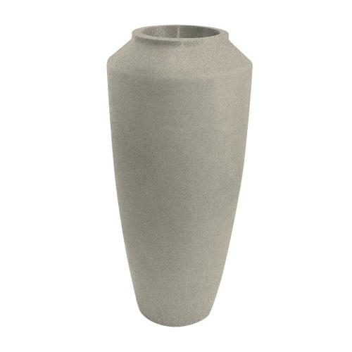 Vaso de Polietileno Thai 75cm Branco Mármore