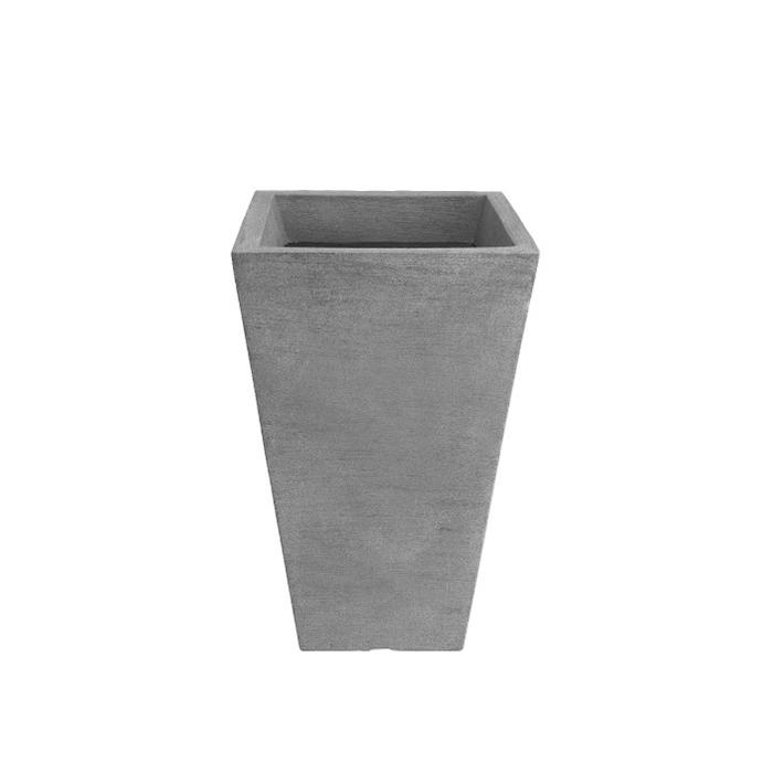 Vaso de Polietileno Trapezio 65cm Cinza