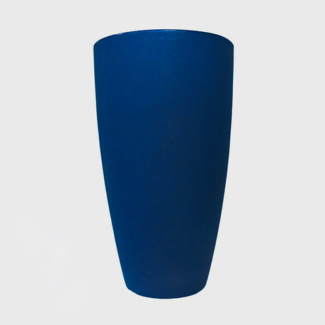 Vaso de Polietileno Vietnamita Fosco 70 cm Azul