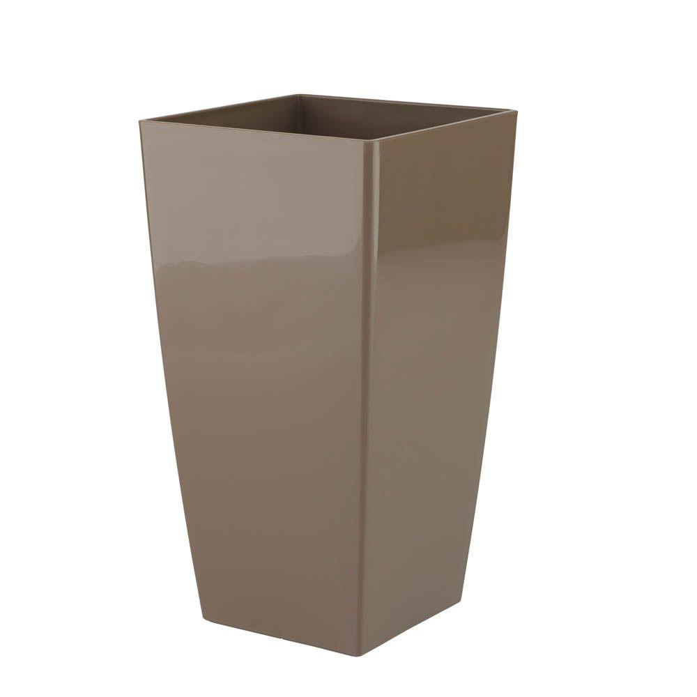 Vaso de Flores Piza Taupe 14X26 cm