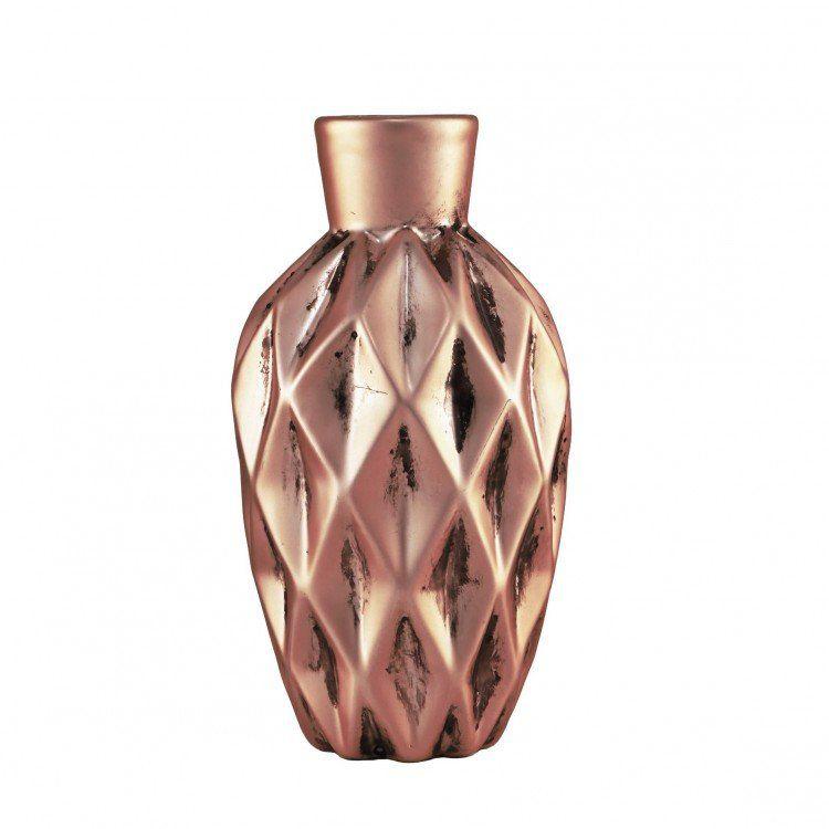 Vaso Solitário de Cerâmica Rose Gold
