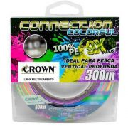 Linha Multifilamento Crown Connection 0,35mm 300m - Colorful