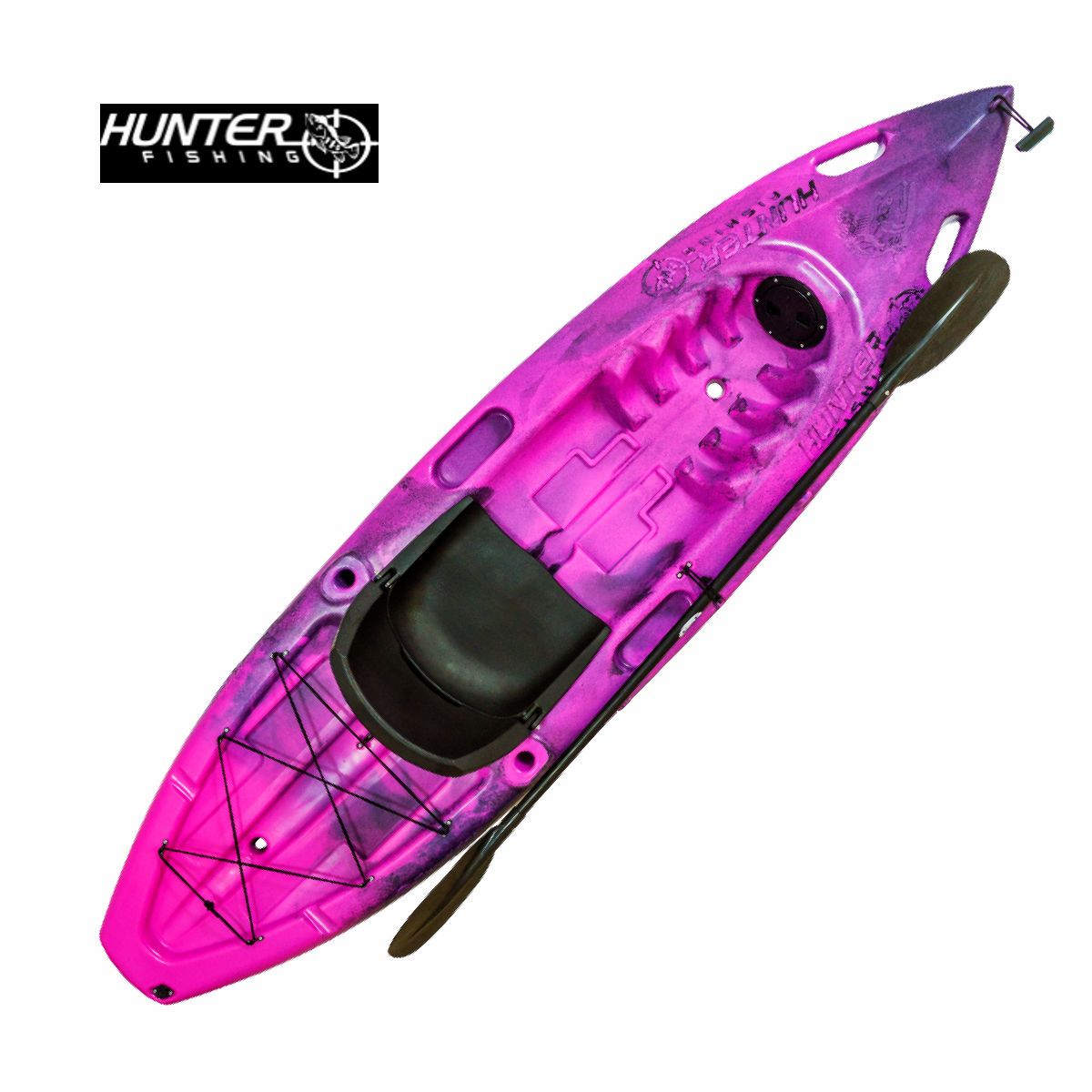 Caiaque Brudden Hunter Fishing UP - Pink com Preto