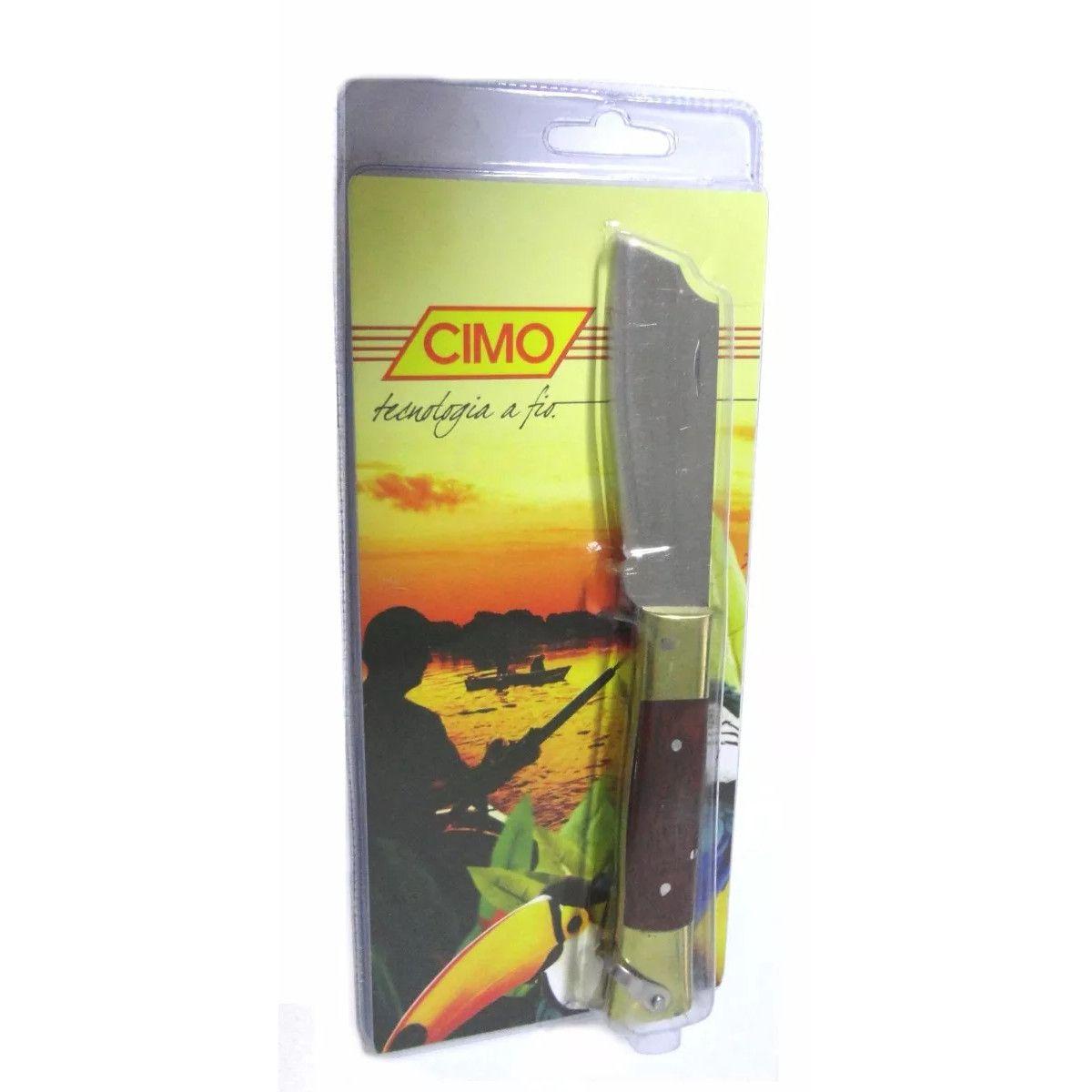 Canivete Inox Cabo De Latão e Madeira Mod. 320/7 Cimo