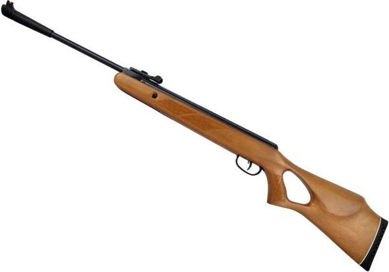 Carabina de Pressão CBC F22 B19-17 Classic Plus 5,5mm Oxidada Coronha Madeira