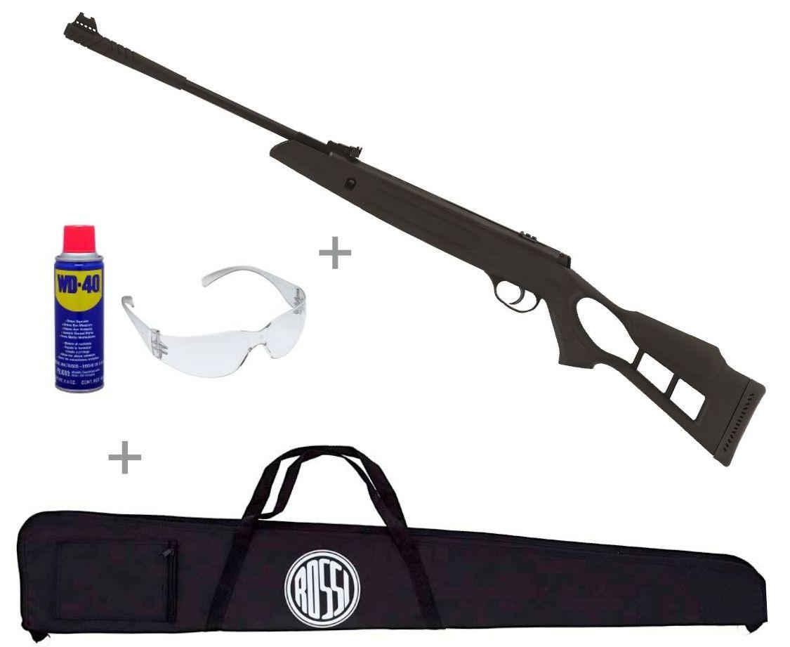 Carabina de Pressão Hatsan Striker Edge 5.5mm + Capa Tecido Rossi + Óculos proteção + Lubrificante