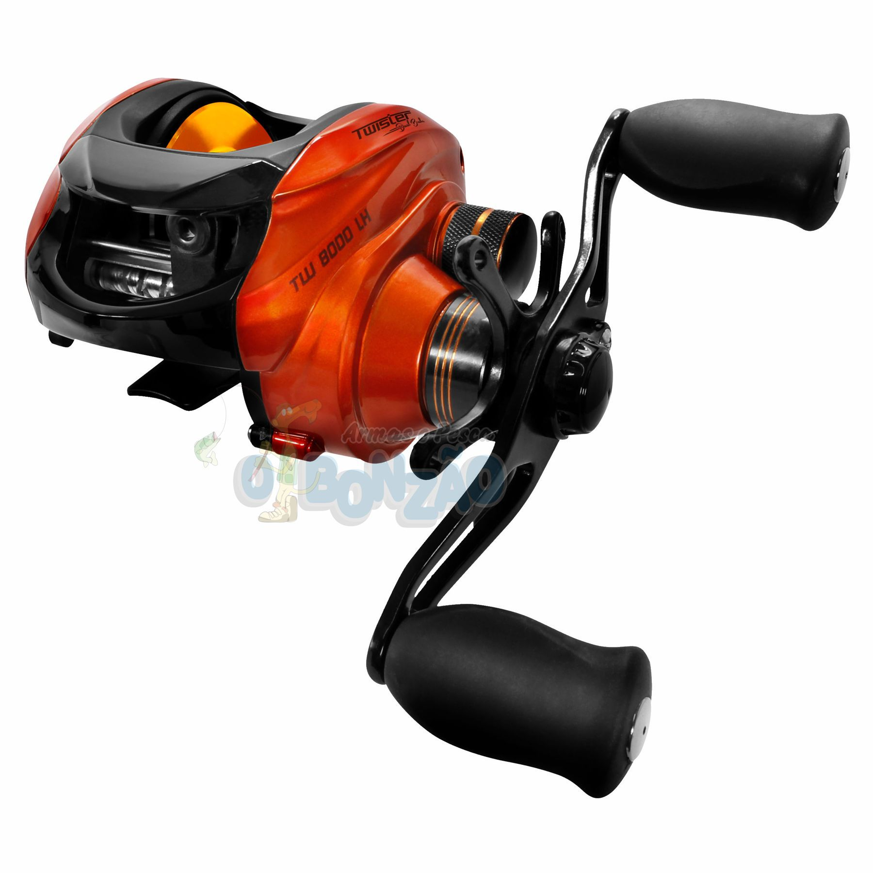 Carretilha Saint Plus Twister Dual Brake 8000LH Esquerda - 8 Rolamentos