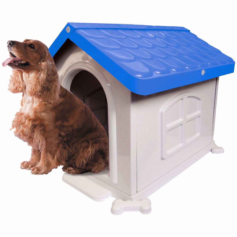 Casinha de Cachorro Medio Desmontável Nº 3 Pet Injet - Azul