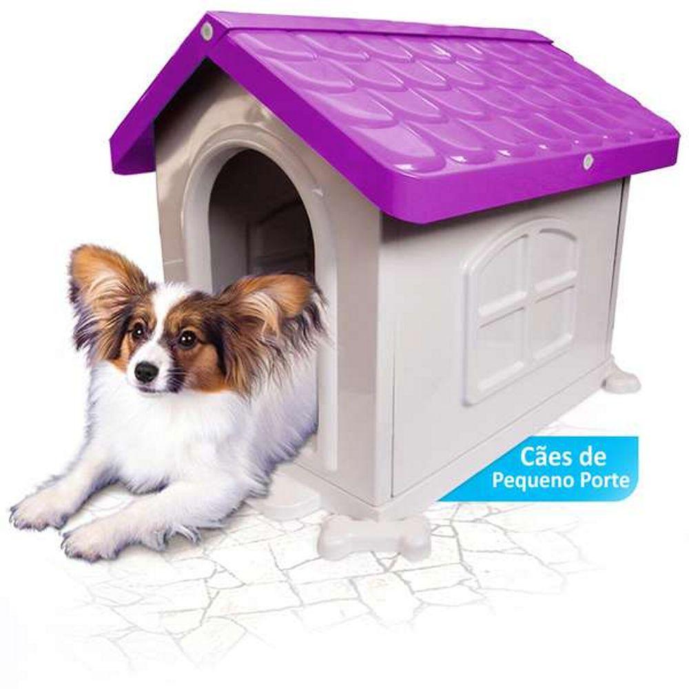 Casinha de Cachorro Pequeno Desmontável Nº 2 Pet Injet - Lilás