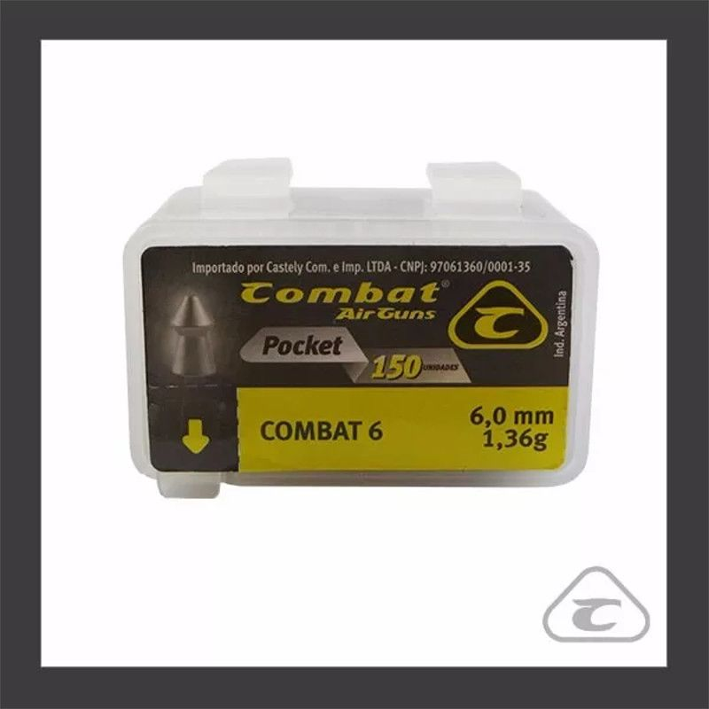 Chumbinho Combat Pocket 6,0mm 150un.