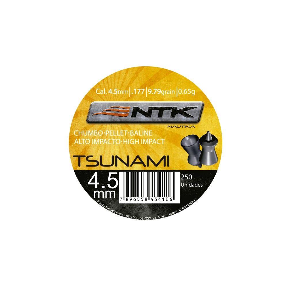 Chumbinho NTK Tsunami Tático Alto Impacto Cal. 4,5mm - 250 unidades