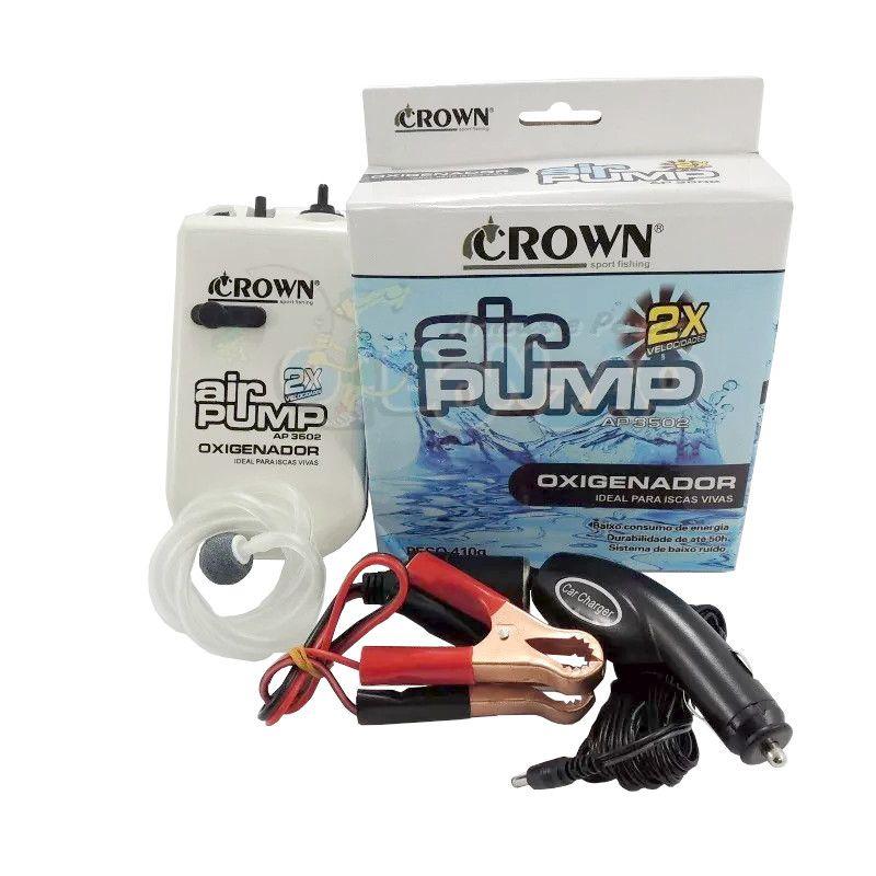 Oxigenador Crown Ap-3502 P/ Isca Viva 2 Velocidades