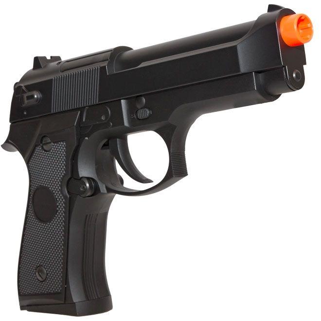 Pistola Airsoft Beretta M92F CM126 Cyma AEP Elétrica + Maleta Rígida Rossi