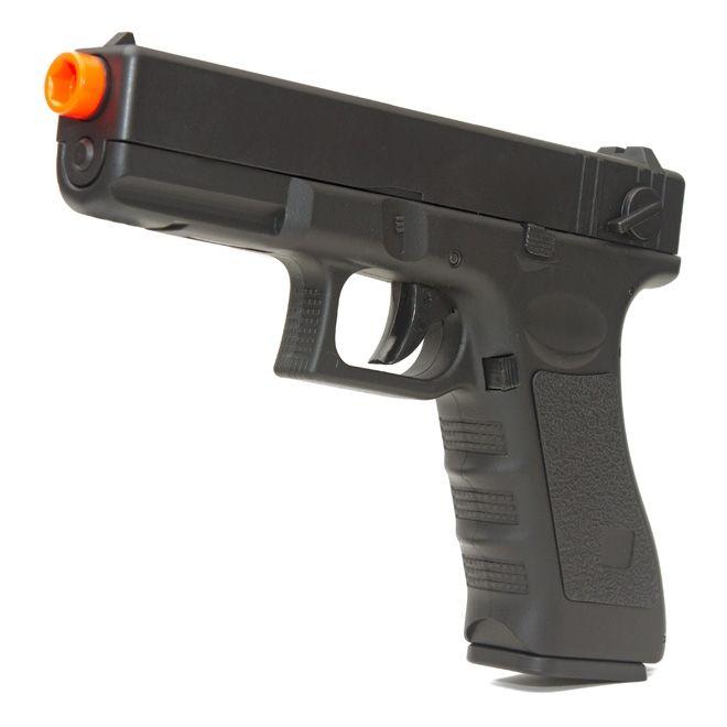 Pistola Airsoft Cyma Glock Elétrica 18C CM 030 AEP + Maleta Rígida Rossi