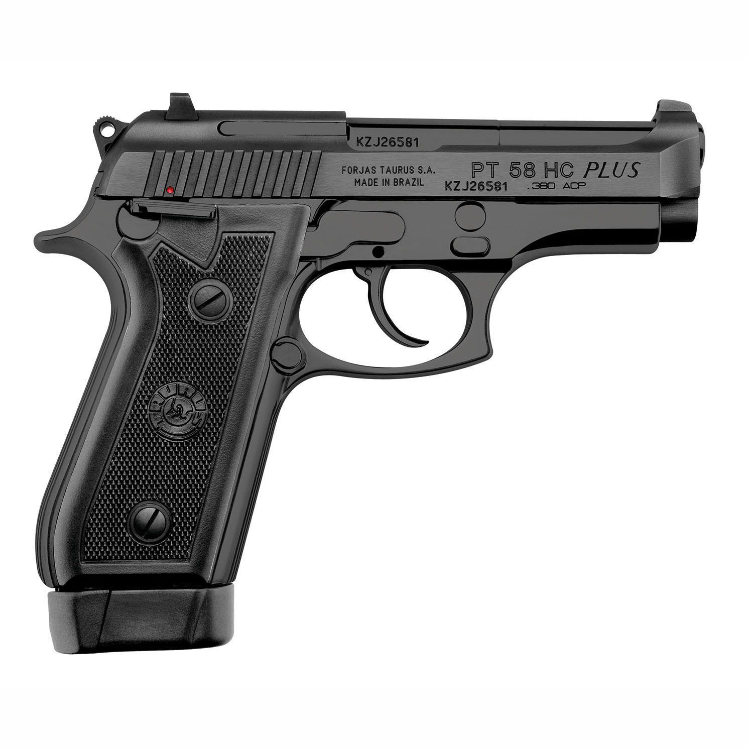 Pistola Taurus PT 58 HC PLUS - Cal. 380 Auto 19+1 Tiros Oxidada Fosco
