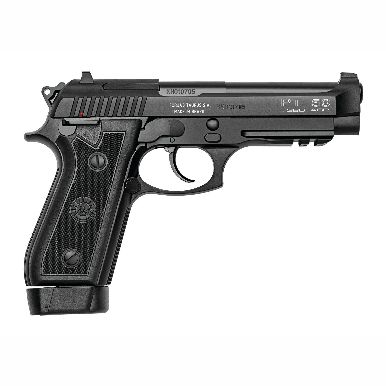 Pistola Taurus PT 59S - Cal. 380 Auto 19+1 Tiros Oxidada Fosco
