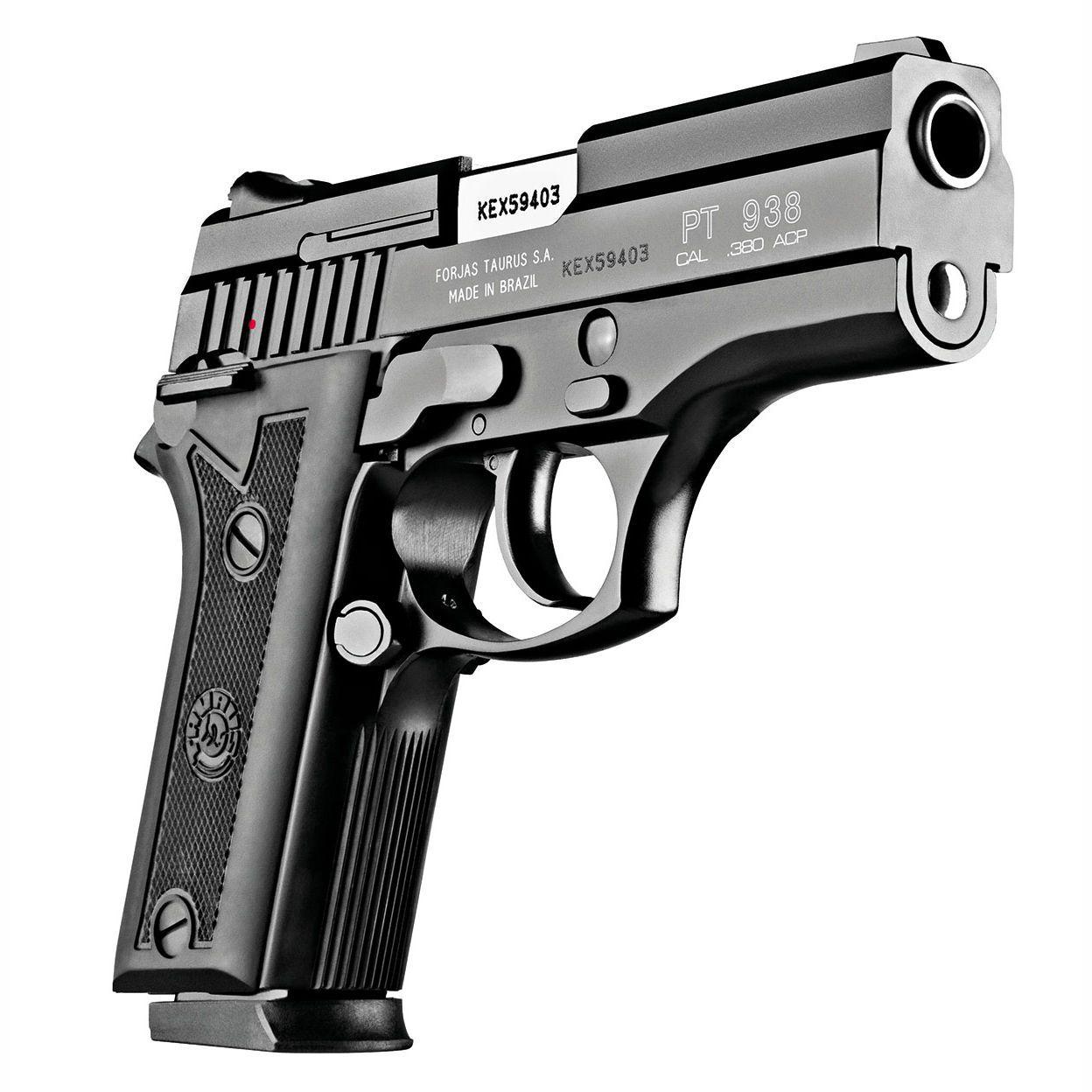 Pistola Taurus PT 938 - Cal. 380 Auto 15+1 Tiros Oxidada Fosco
