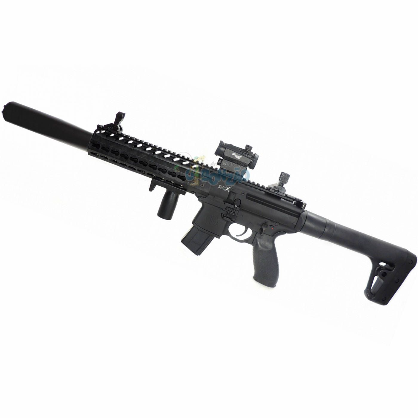 Rifle CO2 Sig Sauer MCX 4,5mm 30 Tiros com Red Dot + Cilindro Co2 88g