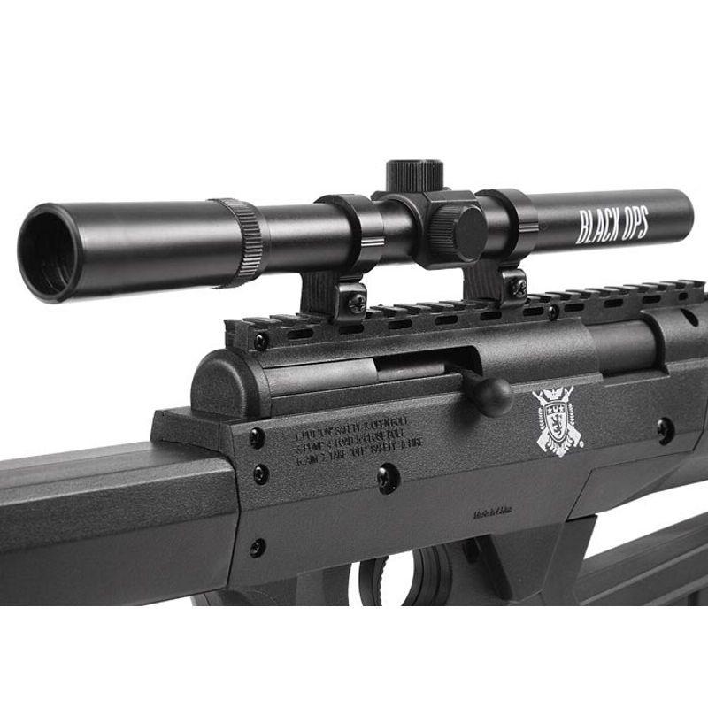 Rifle de Pressão Black Ops Sniper Cal. 5,5mm - Gás Ram