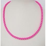 Colar esmaltado pink