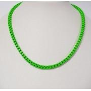 Colar verde neon esmaltado