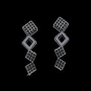 Ear cuff losango ródio negro