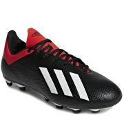 Chuteira Campo Adidas X 18 4 FG Masculina - Preto e Vermelho