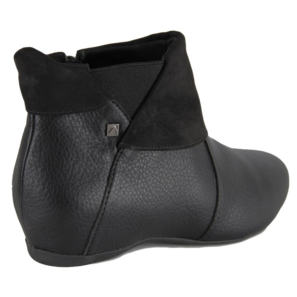 Bota Ankle Boot Piccadilly Anabela embutido 234020 - preto