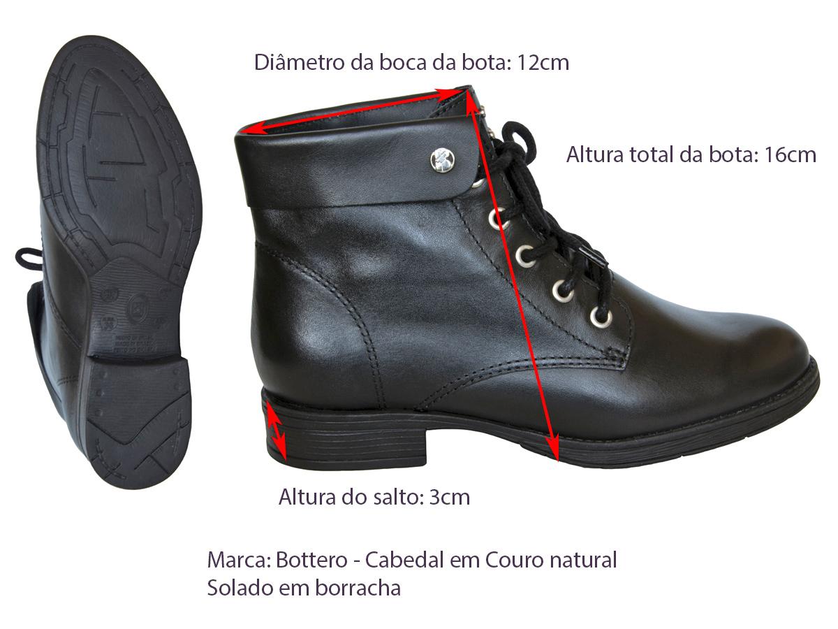 Bota Cano Curto Bottero 316507 Feminino