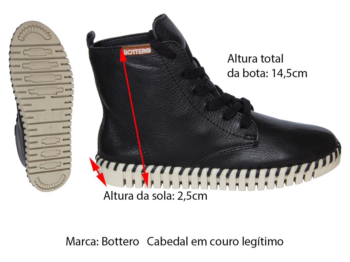 Bota Cano Curto Bottero 325921 Feminino - Couro
