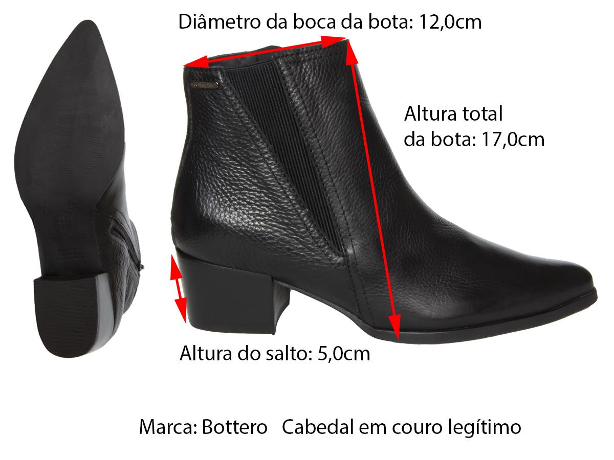 Bota Cano Curto Bottero 326602 couro