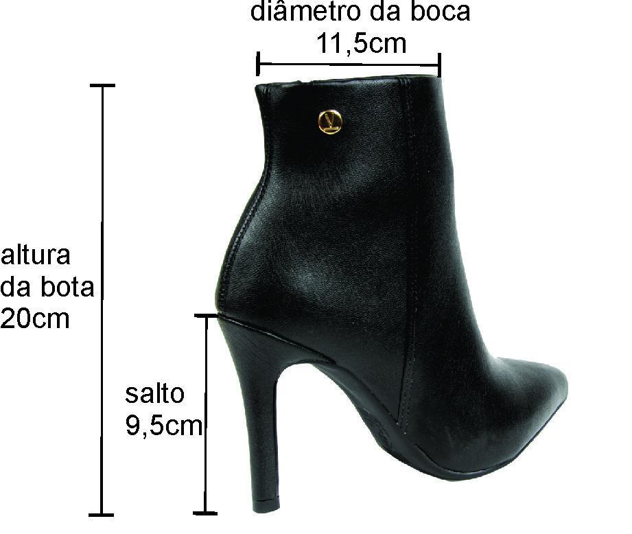 BOTA CANO CURTO SALTO FINO VIZZANO FEMININO 3049.219.15423 PRETO