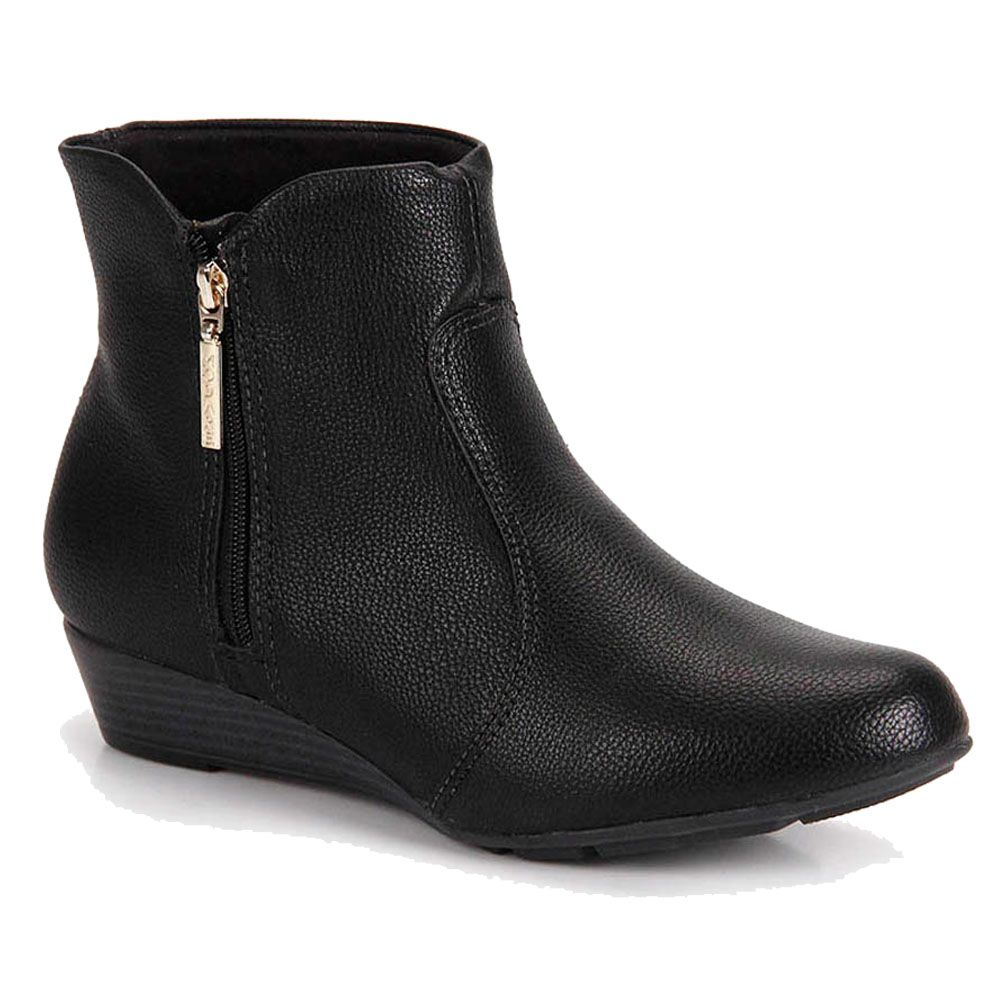 Bota Modare Ankle Boots Anabela 7048.211 - Preto