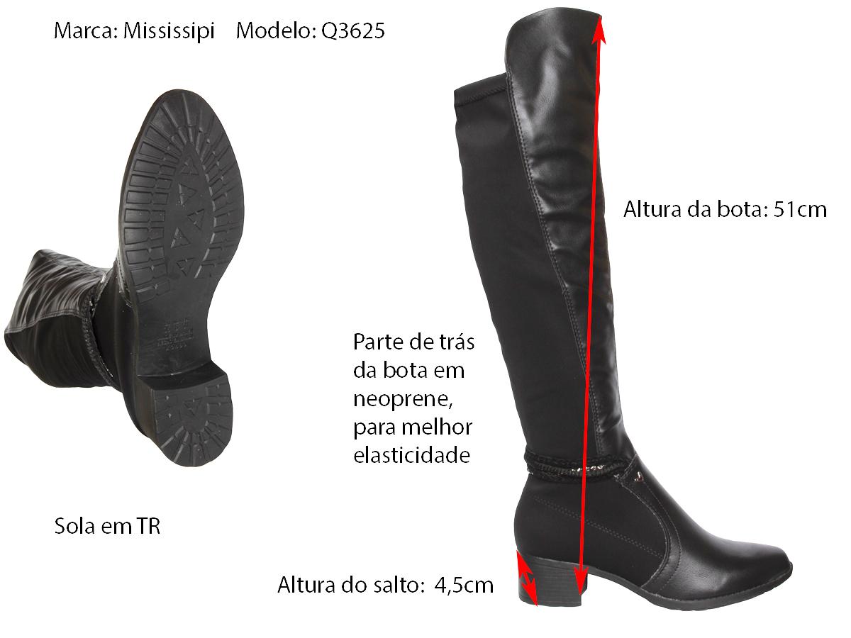Bota Montaria Mississipi Q3625 c/ elastano Feminino