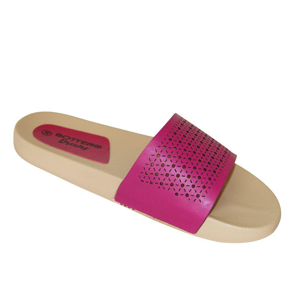 3131284ca Chinelo Slide Bottero Couro 283023 - Pink - Loja Ito