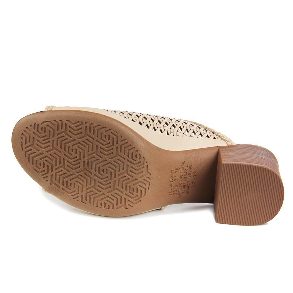 Sandália Dakota Z5421 Salto grosso Feminino - aveia